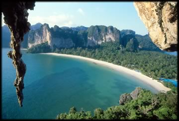 Arriving at Railay beach